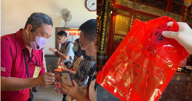宜蘭傳藝內的文昌祠,可點平安燈和領取放大版祈福平安袋。(圖/官其蓁攝)